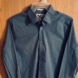 1MX Express button down shirt Blue